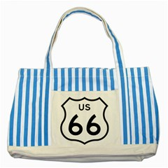 Route 66 Striped Blue Tote Bag by abbeyz71