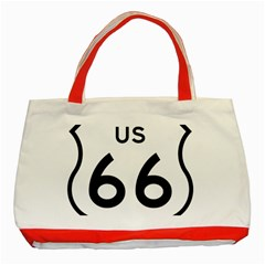 Route 66 Classic Tote Bag (red) by abbeyz71