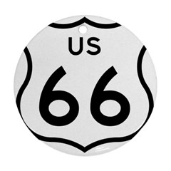 Route 66 Round Ornament (two Sides) by abbeyz71