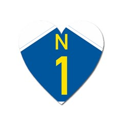 South Africa National Route N1 Marker Heart Magnet by abbeyz71