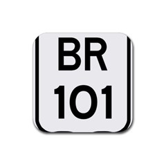 Brasil Br 101 Transcoastal Highway Rubber Coaster (square)  by abbeyz71