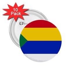 Druze Flag  2 25  Buttons (10 Pack)