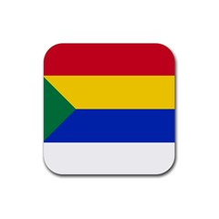 Druze Flag  Rubber Square Coaster (4 Pack)