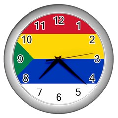 Druze Flag  Wall Clock (silver)