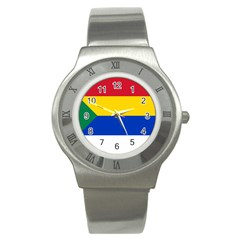 Druze Flag  Stainless Steel Watch