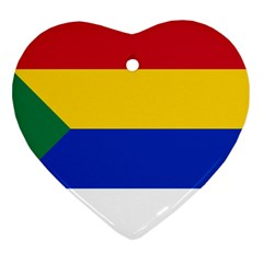 Druze Flag  Heart Ornament (two Sides)