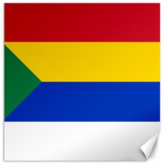Druze Flag  Canvas 20  X 20