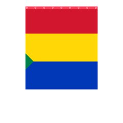 Druze Flag  Shower Curtain 48  X 72  (small)