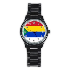 Druze Flag  Stainless Steel Round Watch