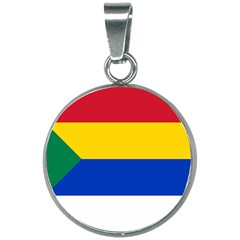 Druze Flag  20mm Round Necklace by abbeyz71