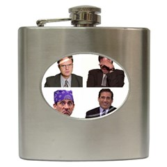 The Office Tv Show Hip Flask (6 Oz) by digitalartjunkie