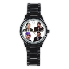 The Office Tv Show Stainless Steel Round Watch by digitalartjunkie