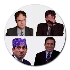 The Office Tv Show Round Mousepads by digitalartjunkie