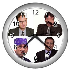 The Office Tv Show Wall Clock (silver) by digitalartjunkie