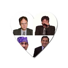 The Office Tv Show Heart Magnet by digitalartjunkie