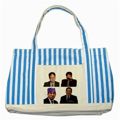 The Office Tv Show Striped Blue Tote Bag by digitalartjunkie