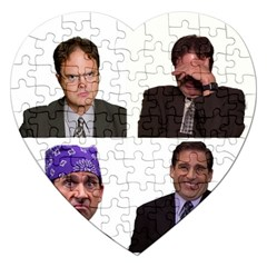 The Office Tv Show Jigsaw Puzzle (heart) by digitalartjunkie