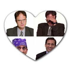 The Office Tv Show Heart Mousepads by digitalartjunkie