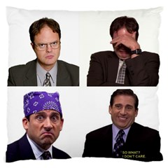 The Office Tv Show Large Cushion Case (one Side) by digitalartjunkie