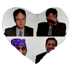The Office Tv Show Large 19  Premium Flano Heart Shape Cushions by digitalartjunkie