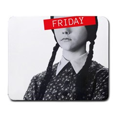 Friday, The Weekend Family Large Mousepads by digitalartjunkie