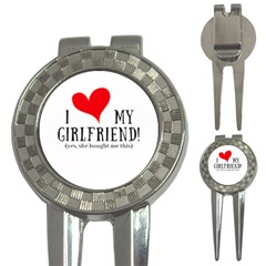 I Love My Girlfriend 3 In 1 Golf Divots by digitalartjunkie