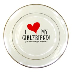 I Love My Girlfriend Porcelain Plates by digitalartjunkie