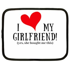I Love My Girlfriend Netbook Case (large) by digitalartjunkie
