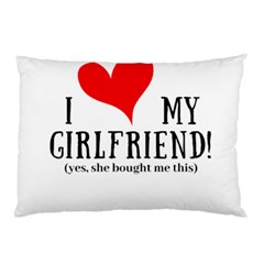 I Love My Girlfriend Pillow Case (two Sides) by digitalartjunkie