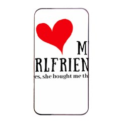 I Love My Girlfriend Apple Iphone 4/4s Seamless Case (black) by digitalartjunkie