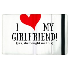 I Love My Girlfriend Apple Ipad 2 Flip Case by digitalartjunkie