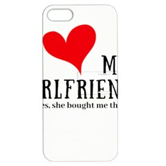 I Love My Girlfriend Apple Iphone 5 Hardshell Case With Stand by digitalartjunkie