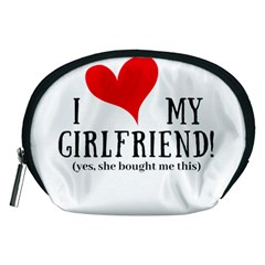 I Love My Girlfriend Accessory Pouch (medium) by digitalartjunkie