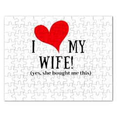 I Love My Wife Rectangular Jigsaw Puzzl by digitalartjunkie