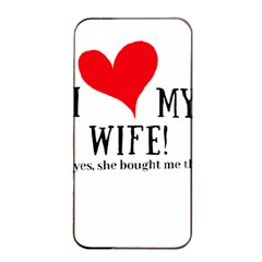 I Love My Wife Apple Iphone 4/4s Seamless Case (black) by digitalartjunkie