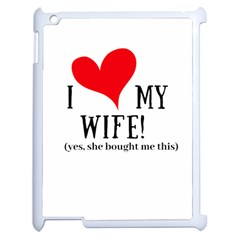 I Love My Wife Apple Ipad 2 Case (white) by digitalartjunkie