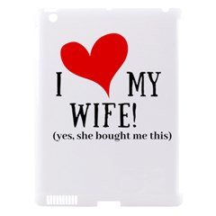 I Love My Wife Apple Ipad 3/4 Hardshell Case (compatible With Smart Cover) by digitalartjunkie