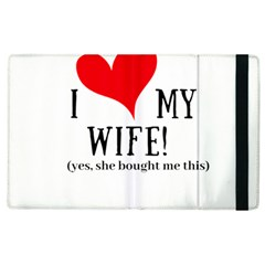 I Love My Wife Apple Ipad 3/4 Flip Case by digitalartjunkie