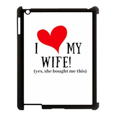 I Love My Wife Apple Ipad 3/4 Case (black) by digitalartjunkie