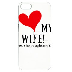 I Love My Wife Apple Iphone 5 Hardshell Case With Stand by digitalartjunkie