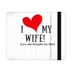 I Love My Wife Samsung Galaxy Tab Pro 8 4  Flip Case by digitalartjunkie