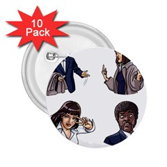 Pulp Fiction 2 25  Buttons (10 Pack)  by digitalartjunkie