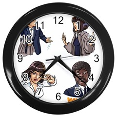 Pulp Fiction Wall Clock (black) by digitalartjunkie