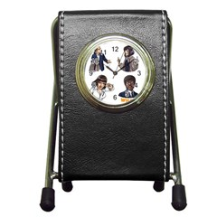 Pulp Fiction Pen Holder Desk Clock by digitalartjunkie