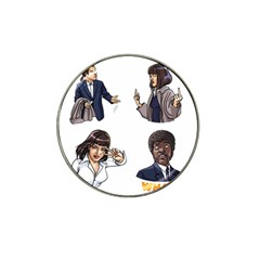 Pulp Fiction Hat Clip Ball Marker (4 Pack) by digitalartjunkie