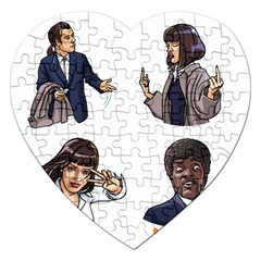 Pulp Fiction Jigsaw Puzzle (heart) by digitalartjunkie