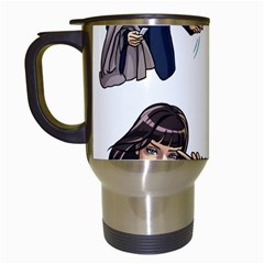 Pulp Fiction Travel Mugs (white) by digitalartjunkie