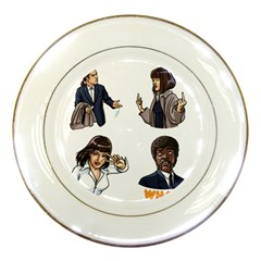 Pulp Fiction Porcelain Plates by digitalartjunkie