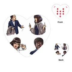 Pulp Fiction Playing Cards (heart) by digitalartjunkie