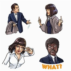 Pulp Fiction Canvas 12  X 12  by digitalartjunkie